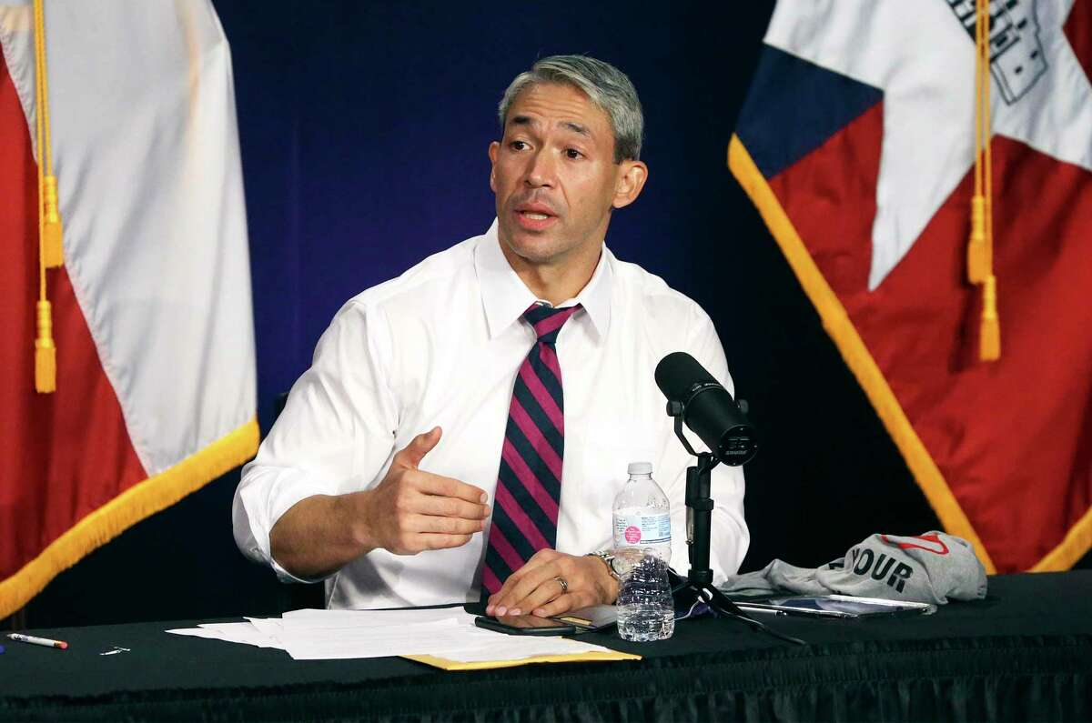 San Antonio Mayor Ron Nirenberg leads the daily Covid-19 update on Aug. 24, 2020.