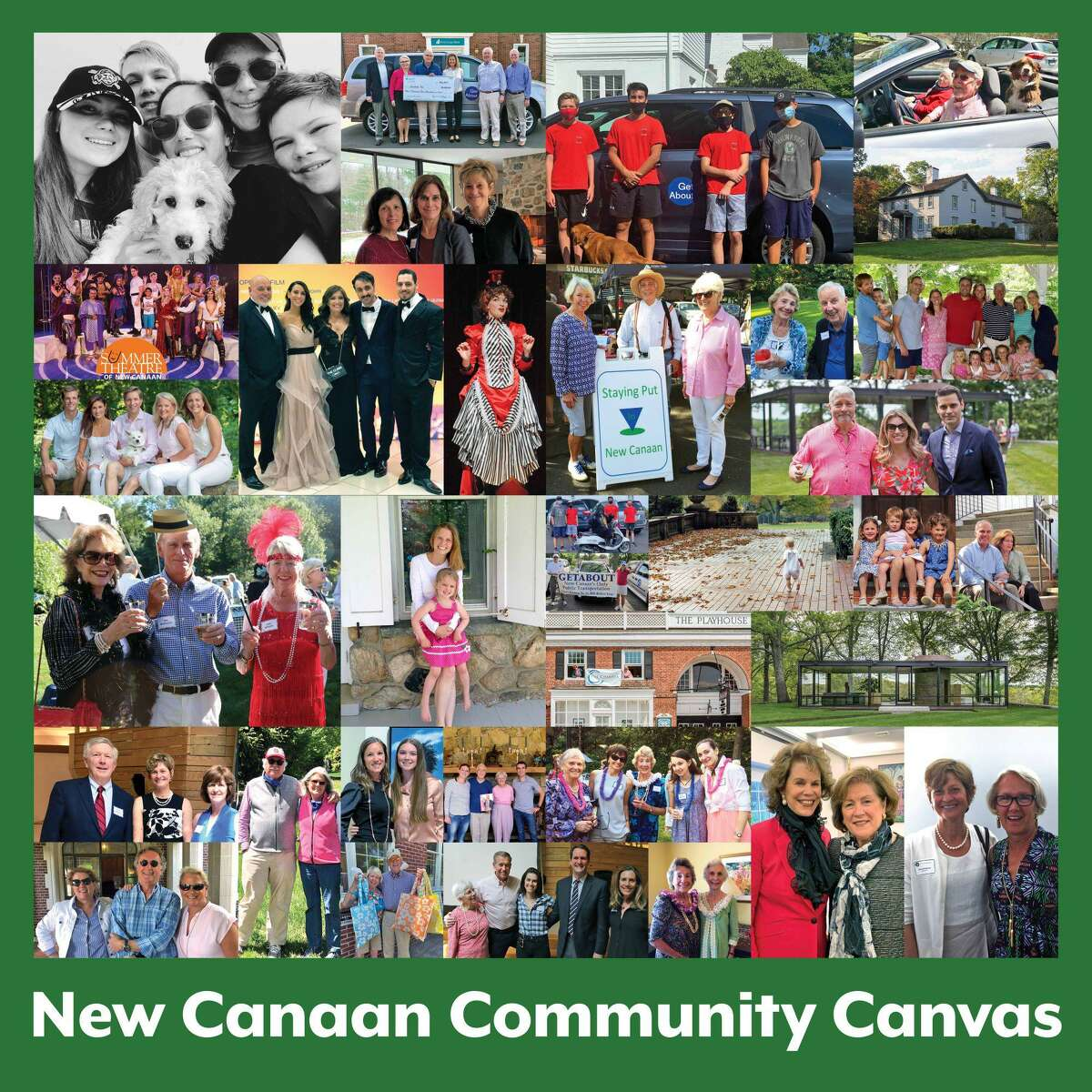 The New Canaan Museum & Historical Society will unveil its Community Canvas on the great lawn of its campus at 13 Oenoke Ridge Road Saturday, Oct. 3, withan outside reception from 3:30-5 p.m.