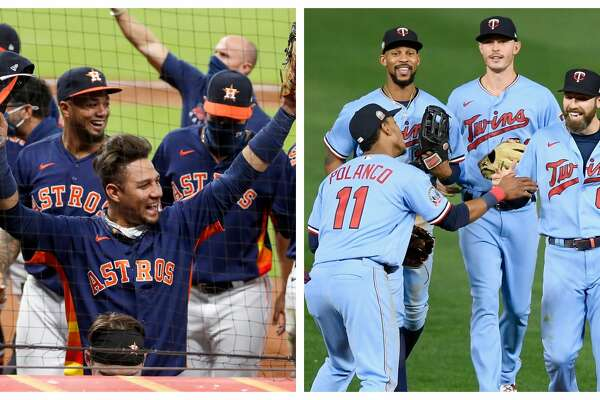 See how the Astros and Twins matchup as they prepare for their playoff series this week.