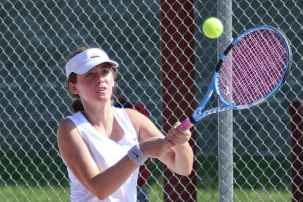 Roxana's Lindsey Ratliff has a record of 10-4 at No. 2 singles this season. She is shown in action at the Andy Simpson Tourney at AHS earlier this season.
