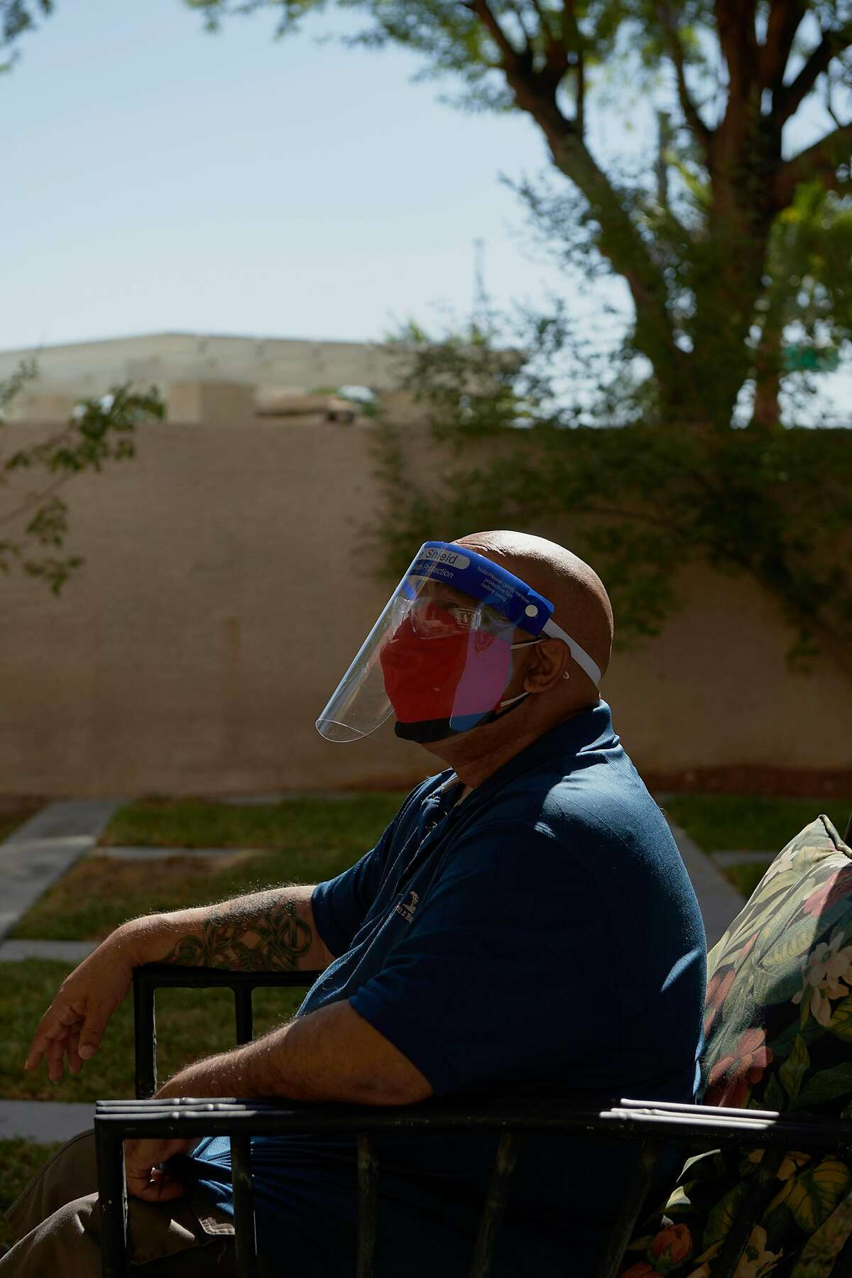 Tony Pinero, a ride share driver, in Las Vegas on Sept. 2, 2020. Pinero is among a growing group of Americans who survived their initial bout with the coronavirus, but are now reporting serious, long-term symptoms. (Bridget Bennett/The New York Times)