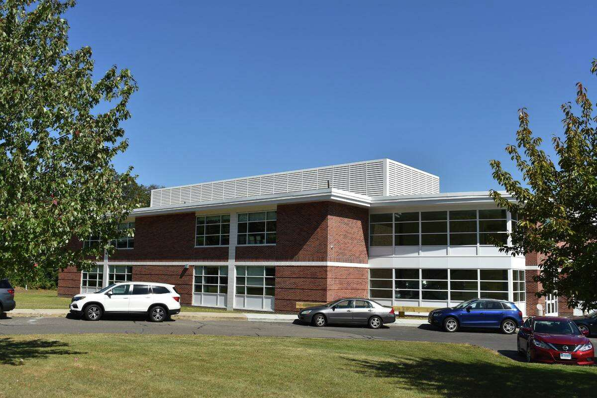 Classrooms were added to the northwest corner of the Saxe Middle School campus to accommodate more students.