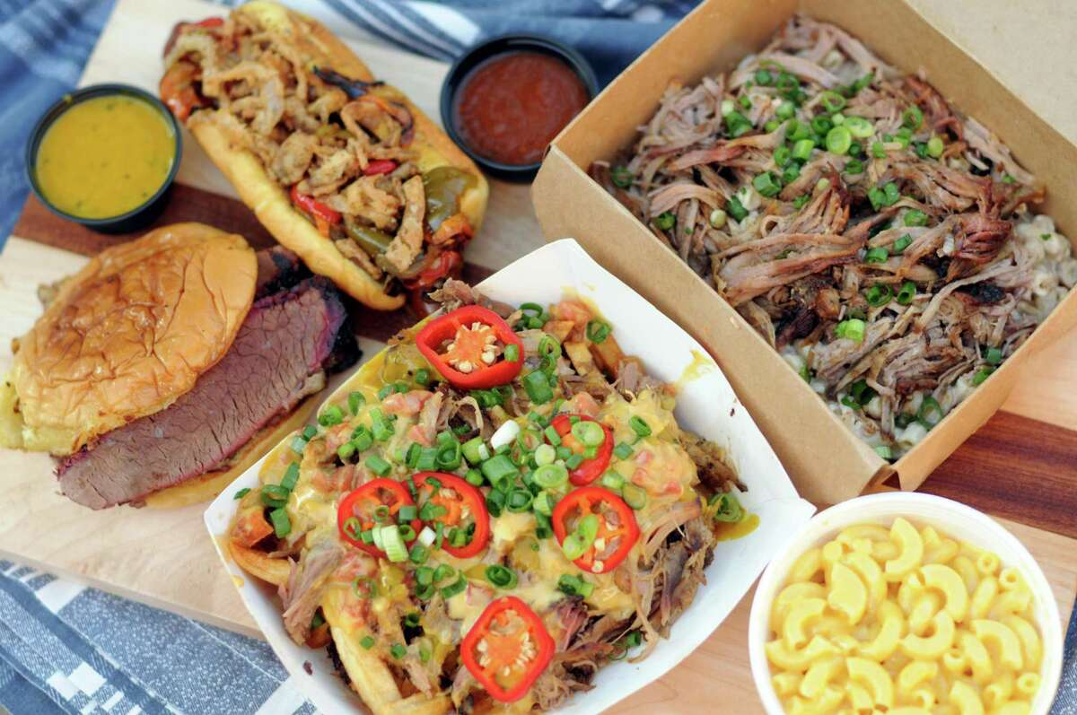 A selection of menu items from Bandit BBQ