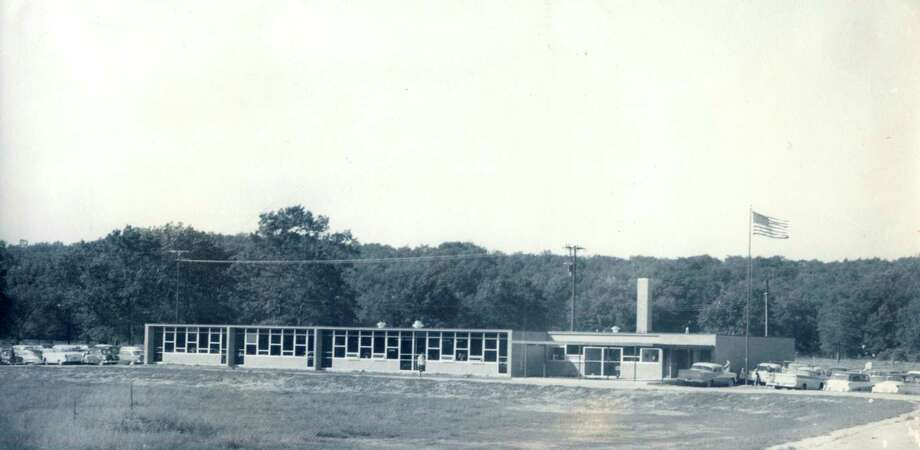 The new Parkdale Elementary School, later renamed North and Kennedy Elementary School, was dedicated on Sept. 28, 1958. (Manistee County Historical Museum photo)