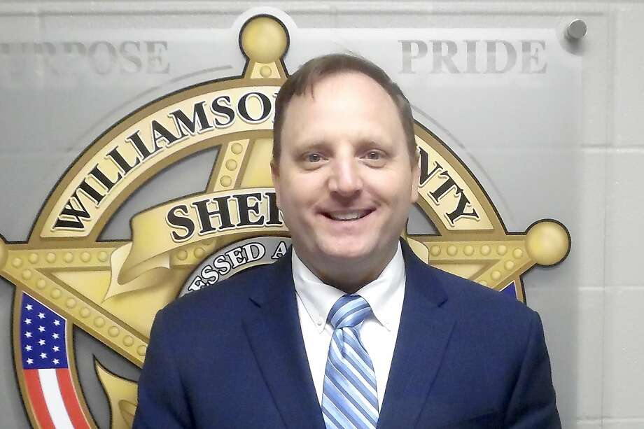 In this Sept. 28, 2020, booking photo provided by the Williamson County, Texas, Sheriff's office shows Sheriff Robert Chody, who was booked into his jail Monday, Sept. 28, 2020, on a $10,000 bond. A grand jury indicted the Texas sheriff Monday on charges accusing him of destroying or concealing video in an investigation into the death of Javier Ambler, a Black man who died in police custody last year. Chody is facing the third-degree felony charge that is punishable by up to 10 years in prison. (Williamson County Sheriff via AP) Photo: Associated Press