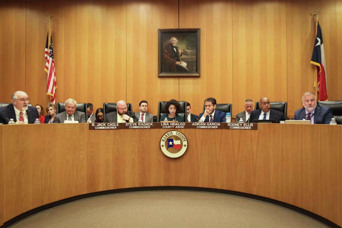 The Harris County Commissioners Court Tuesday, March 10, 2020, in Houston.