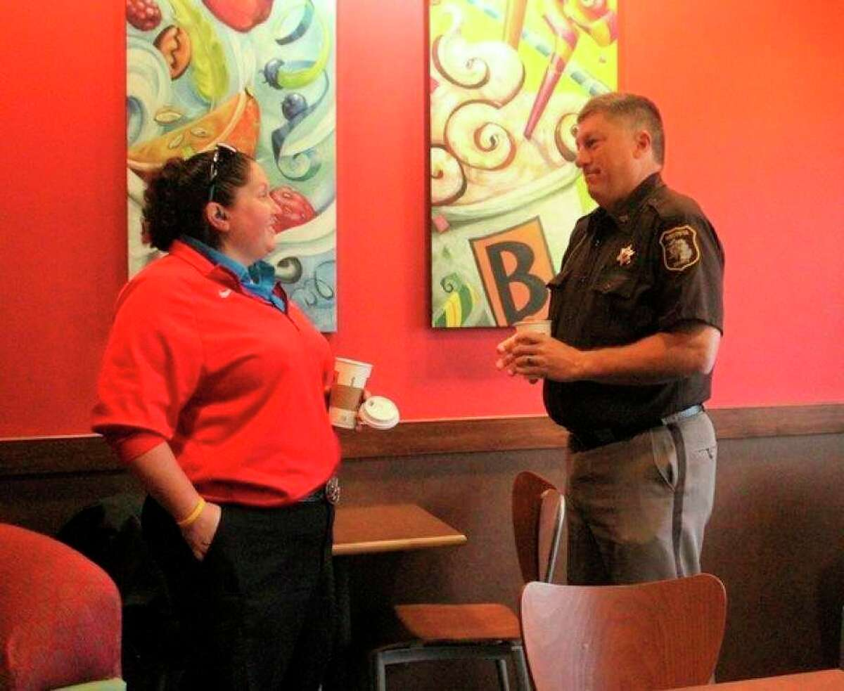 Area residents have the chance to get to know members of their local law enforcement during the annual Coffee with a Cop event on Oct. 7. (Pioneer file photo)