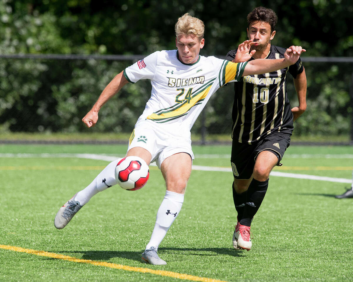 Siena soccer player Mark Sojer has decided to remain in Slovenia and take classes remotely this fall. (Courtesy of Siena College Athletics)
