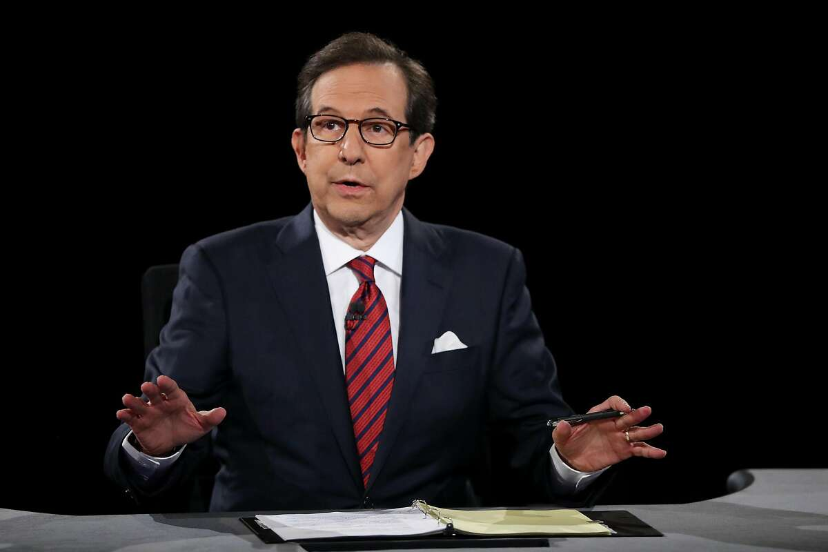 In this file photo, Fox News anchor and moderator Chris Wallace asks the candidates a question during the third U.S. presidential debate at the Thomas & Mack Center on October 19, 2016 in Las Vegas, NV. (Joe Raedle/Getty Images/TNS)