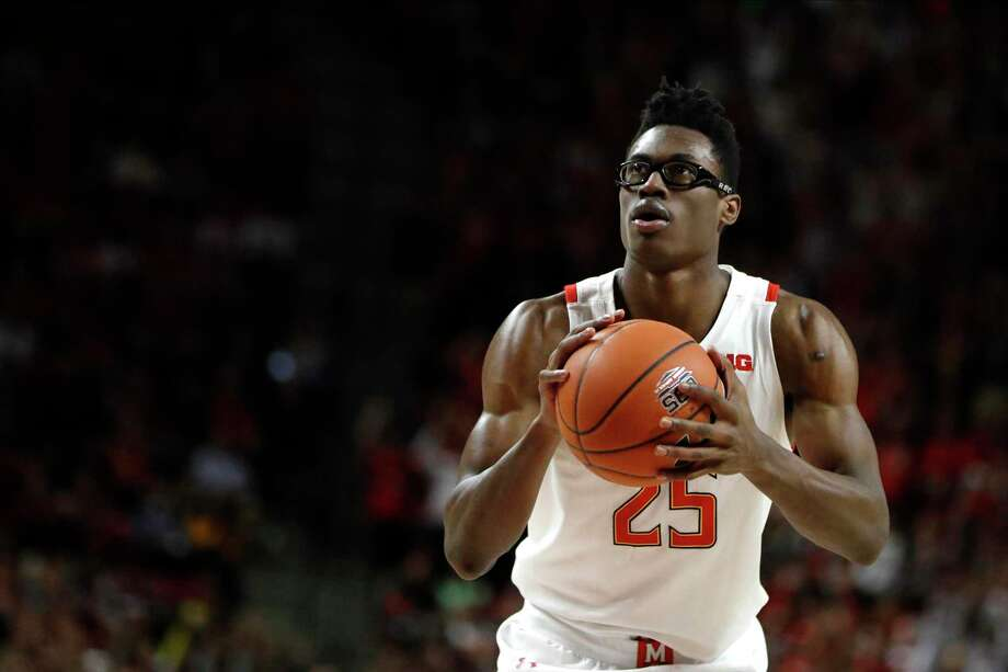 Maryland forward Jalen Smith shoots a basket against Rutgers during the second half of an NCAA college basketball game, Tuesday, Feb. 4, 2020, in College Park, Md. Maryland won 56-51. Photo: Julio Cortez /Associated Press / Copyright 2020 The Associated Press. All rights reserved.