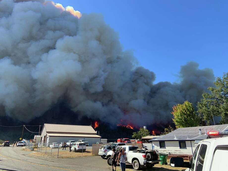 A recent image of the Zoff Fire from CAL FIRE Shasta Trinity Unit & the Shasta County Fire Department on Monday, September 28, 2020. Photo: CalFire