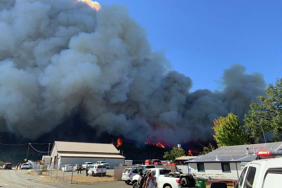 A recent image of the Zoff Fire from CAL FIRE Shasta Trinity Unit & the Shasta County Fire Department on Monday, September 28, 2020.