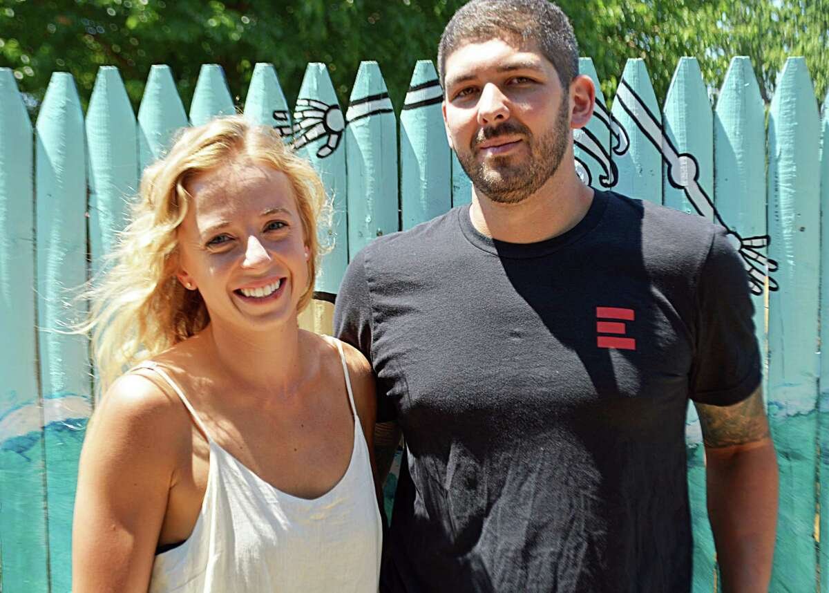 Rocco and Aubrey Lamonica own Eli Cannon's Tap Room in Middletown.