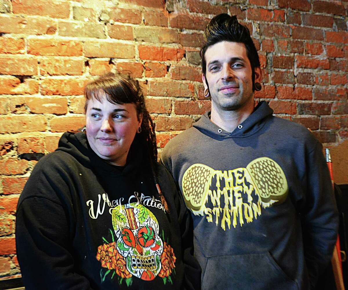 Jillian Moskites, left, with her husband Josh, own the Whey Station food truck and Whey Station(ary) restaurant in Middletown.