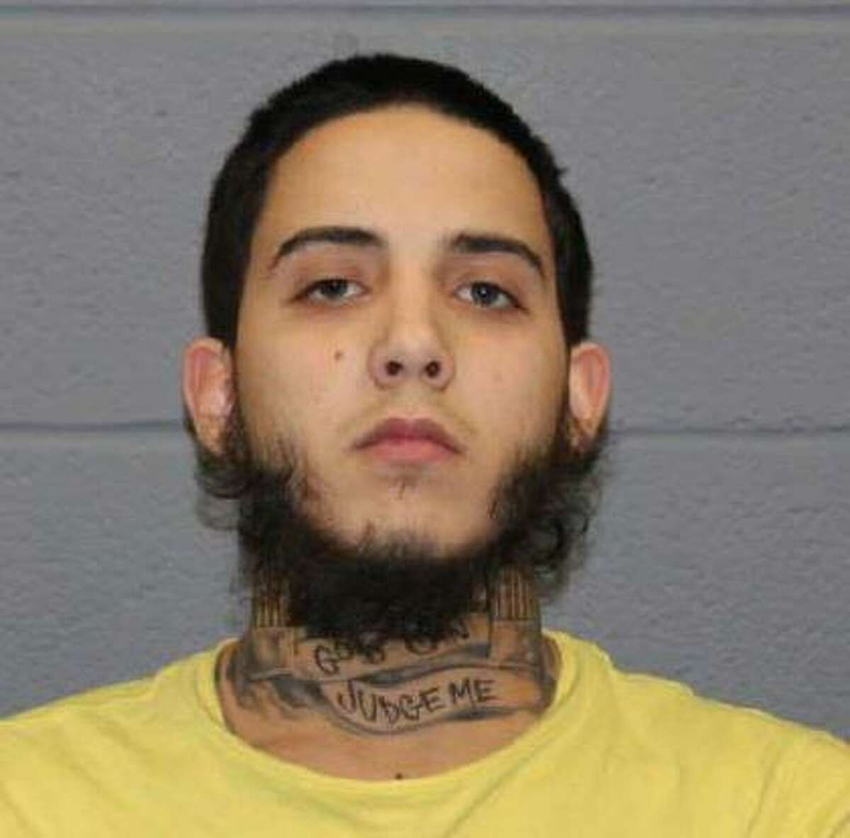 Justin Cabrera, 21, of Waterbury, Conn., with murder, criminal use of a weapon, illegal discharge of a firearm, first-degree reckless endangerment, carrying a pistol without a permit, illegal possession of a weapon in a motor vehicle and illegal transfer of a pistol/revolver.