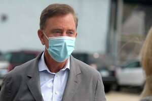 Governor Ned Lamont on Sept. 28, 2020. He announced Wednesday that the state's COVID-19 infection rate had dropped from 3 percent Tuesday to 2.6 percent Wednesday.