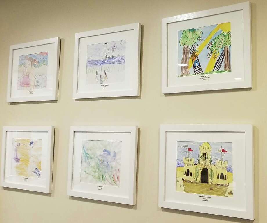 Eight submissions (six shown) from the region's students were selected that depict the theme, Michigan at Play, to be displayed in the Frankfort Medical Group housed in Paul Oliver Memorial Hospital. (Courtesy Photo)