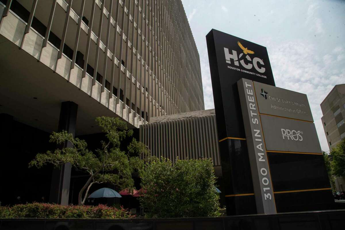 Houston Community College's main administrative building is shown at 3100 Main St., Friday, Sept. 11, 2020, in Houston.