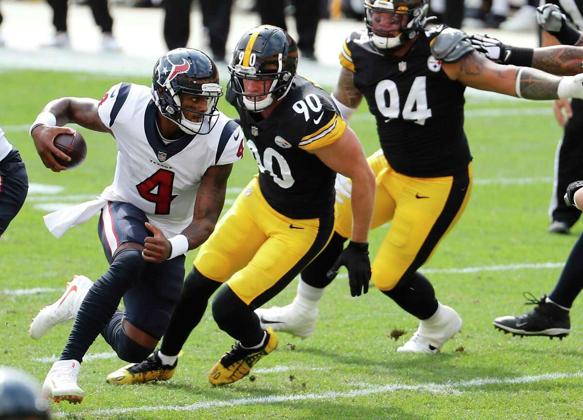 The Steelers adjusted at halftime to keep Deshaun Watson from running as much outside the edge.
