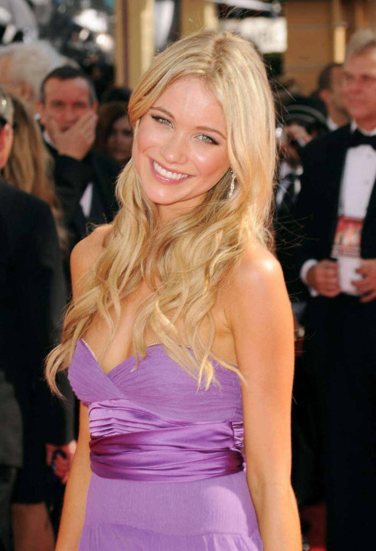 Actress Katrina Bowden arrives at the 62nd Annual Primetime Emmy Awards held at the Nokia Theatre L.A. Live on August 29, 2010 in Los Angeles, California. (Photo by Jason Merritt / Getty Images)
