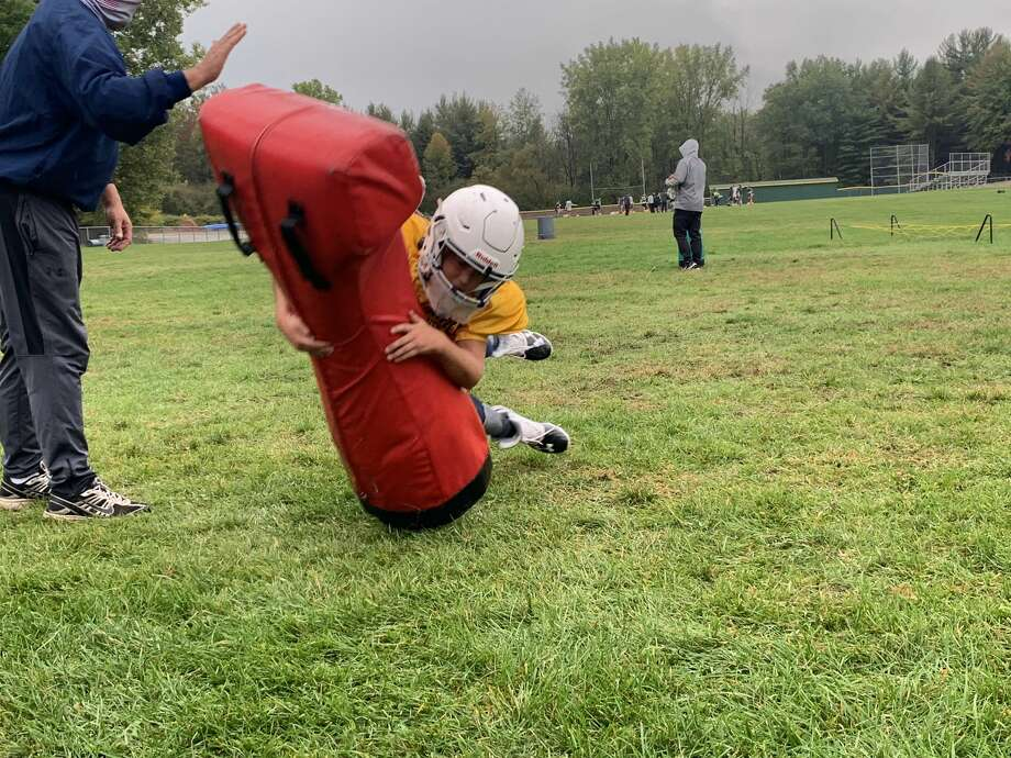 Images from Monday's youth football practice at Dow High School Photo: Fred Kelly/fred.kelly@mdn.net