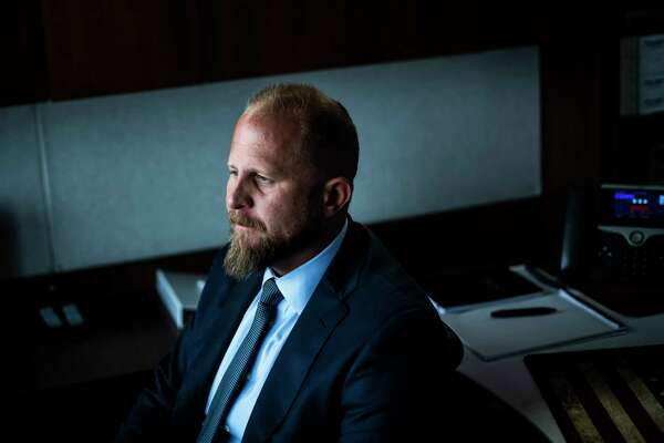 Brad Parscale, a former campaign manager for President Trump, poses for a portrait at the Northern Virginia Republican National Convention annex on July 25, 2019, in Arlington, Va.