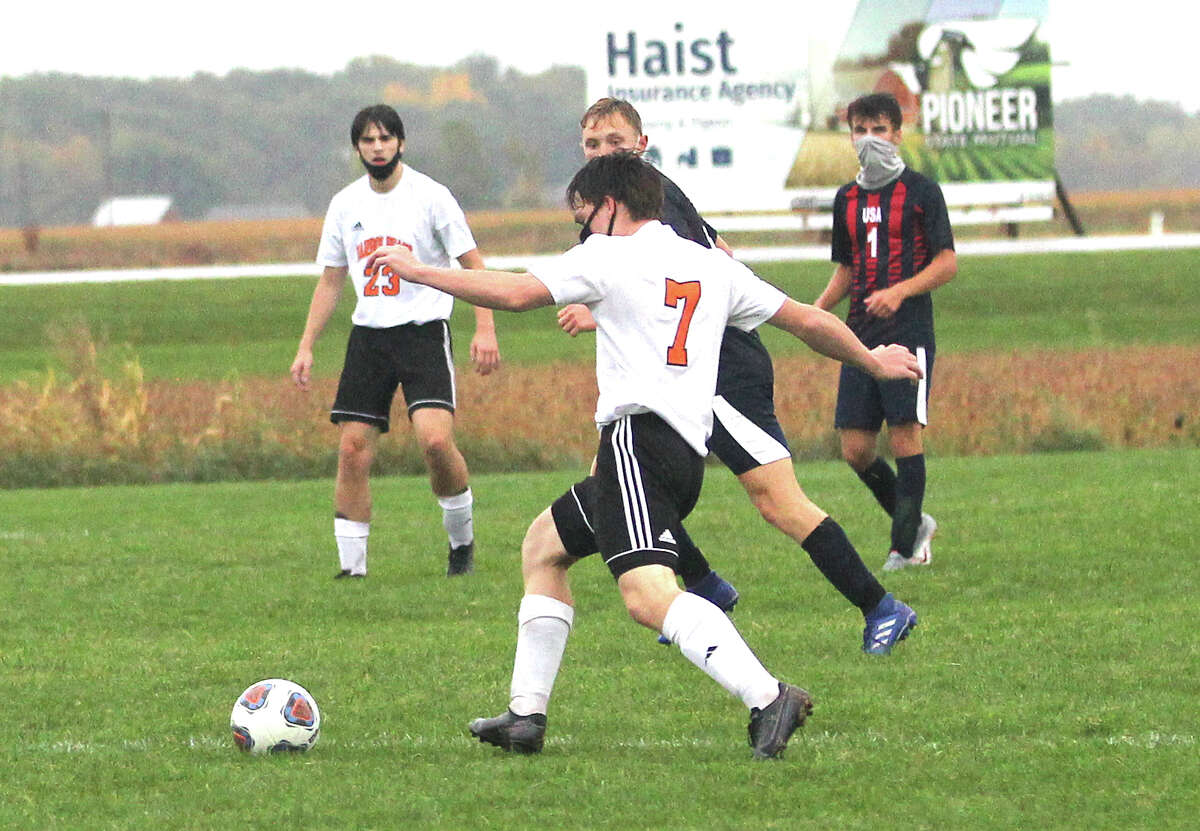 The USA boys soccer team edged visiting Harbor Beach, 2-1, on Monday.
