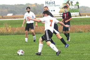 The USA boys soccer team edged visiting Harbor Beach, 2-1, on Monday.