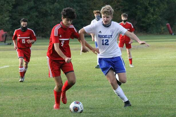 Benzie Central boys soccer falls to Buckley 1-0 on Sept. 28.