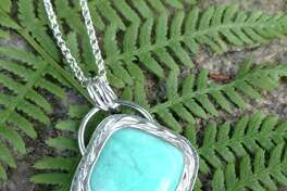 The Arts Center Killingworth returns to the Madison Connecticut Town Green to present its annual Autumn Outdoor Arts Festival, Oct. 10-11, rain date Oct. 12. Above, Amazonite and Sterling Silver Pendant, Lori Meehan.