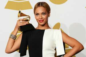 """Singer Beyonce, winner Best Traditional R&B Performance for """"Love on Top"""", poses in the press room at the 55th Annual GRAMMY Awards at Staples Center on February 10, 2013 in Los Angeles, California. (Photo by Jason Merritt/Getty Images)"""