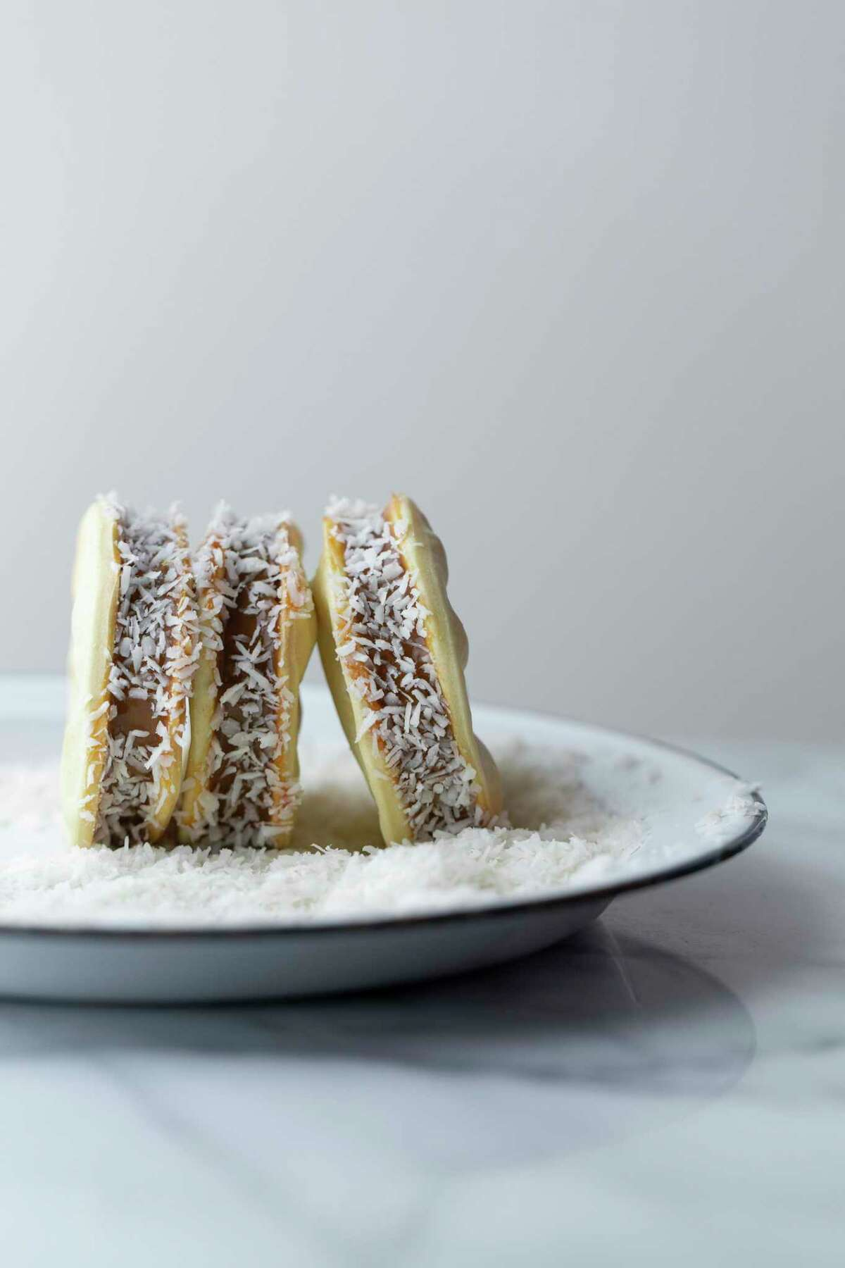"""Alfajores (Dulce de Leche-Filled Sandwich Cookies)from """"The Chilean Kitchen"""" by Pilar Hernandez and Eileen Smith."""