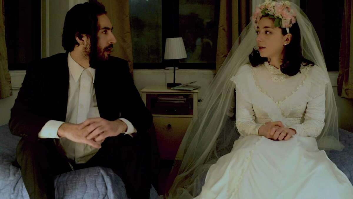 """Julie Benko, right, plays the bride opposite Felix Teich in """"The Newlywed's Guide to Physical Intimacy,"""" a short film. The Fairfield native also wrote, directed and edited the film."""