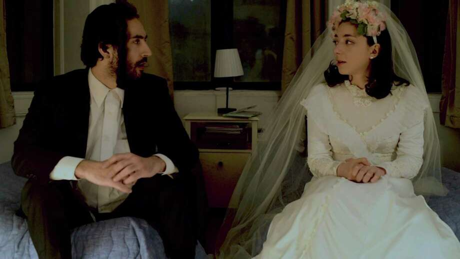 """Julie Benko, right, plays the bride opposite Felix Teich in """"The Newlywed's Guide to Physical Intimacy,"""" a short film. The Fairfield native also wrote, directed and edited the film. Photo: Julie Benko / Contributed Photo"""