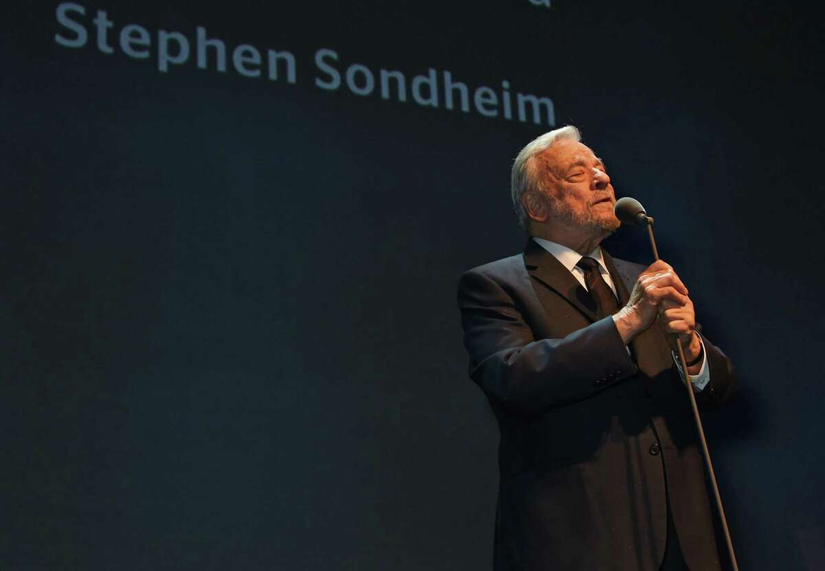 Composer Stephen Sondheim accepted The Lebedev Award at The London Evening Standard Theatre Awards in partnership with The Ivy at The Old Vic Theatre on Nov. 22, 2015 in London, England. Recently he attended the Warner Theatre's drive-in production of his musical