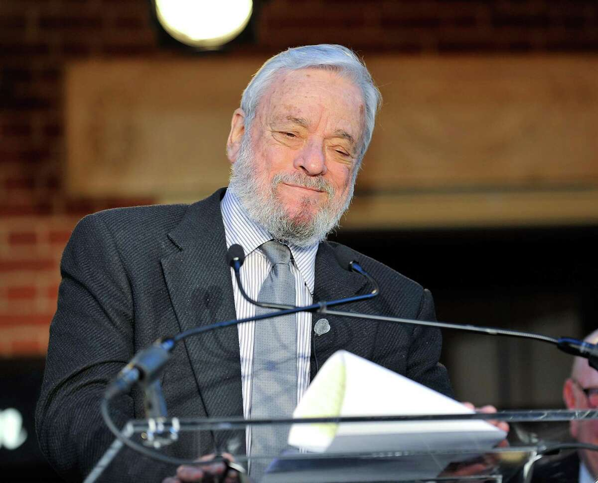 Composer Stephen Sondheim attended the Stephen Sondheim Theatre marquee lighting on Sept. 15, 2010, in New York City. Recently he was spotted in the audience at the Warner Theatre drive-in production of his musical