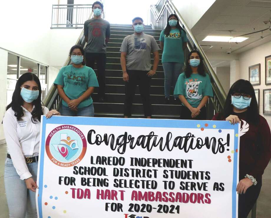 Laredo Independent School District student leaders have been selected as a Texas Department of Agriculture (TDA) 2020-21 Health Ambassador for a Ready Texas (HART) Initiative. Photo: Courtesy /LISD