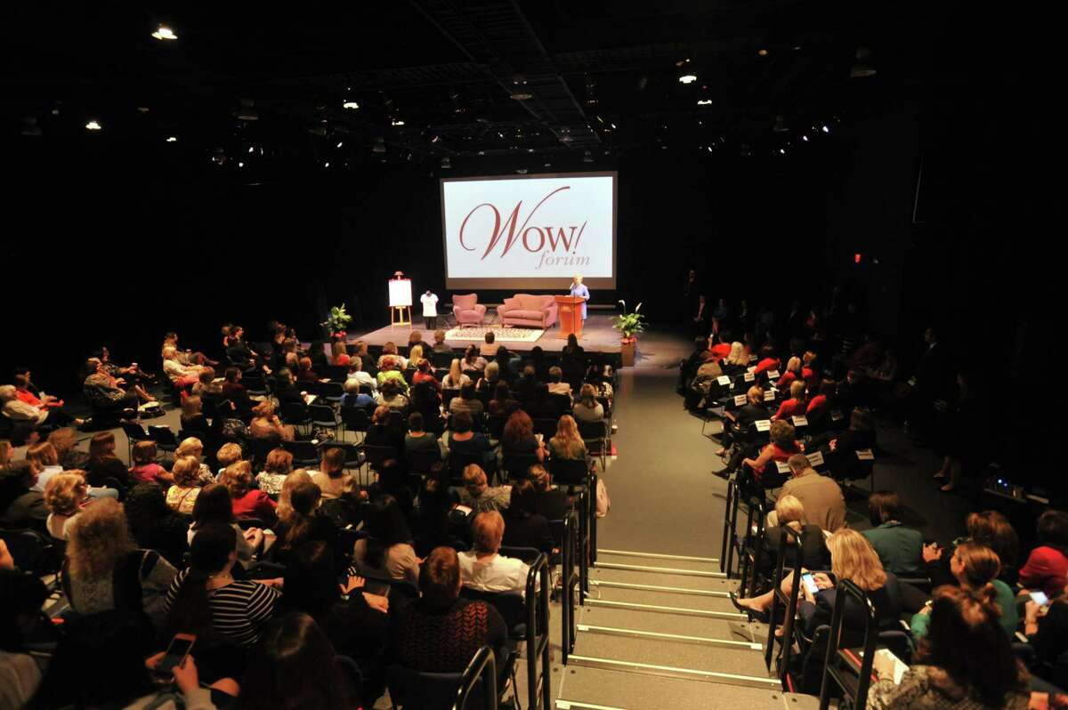 Northwest Connecticut's Chamber of Commerce is presenting a virtual 16th annual WOW! Forum. Above, participants at a previous forum at the Warner Theatre.
