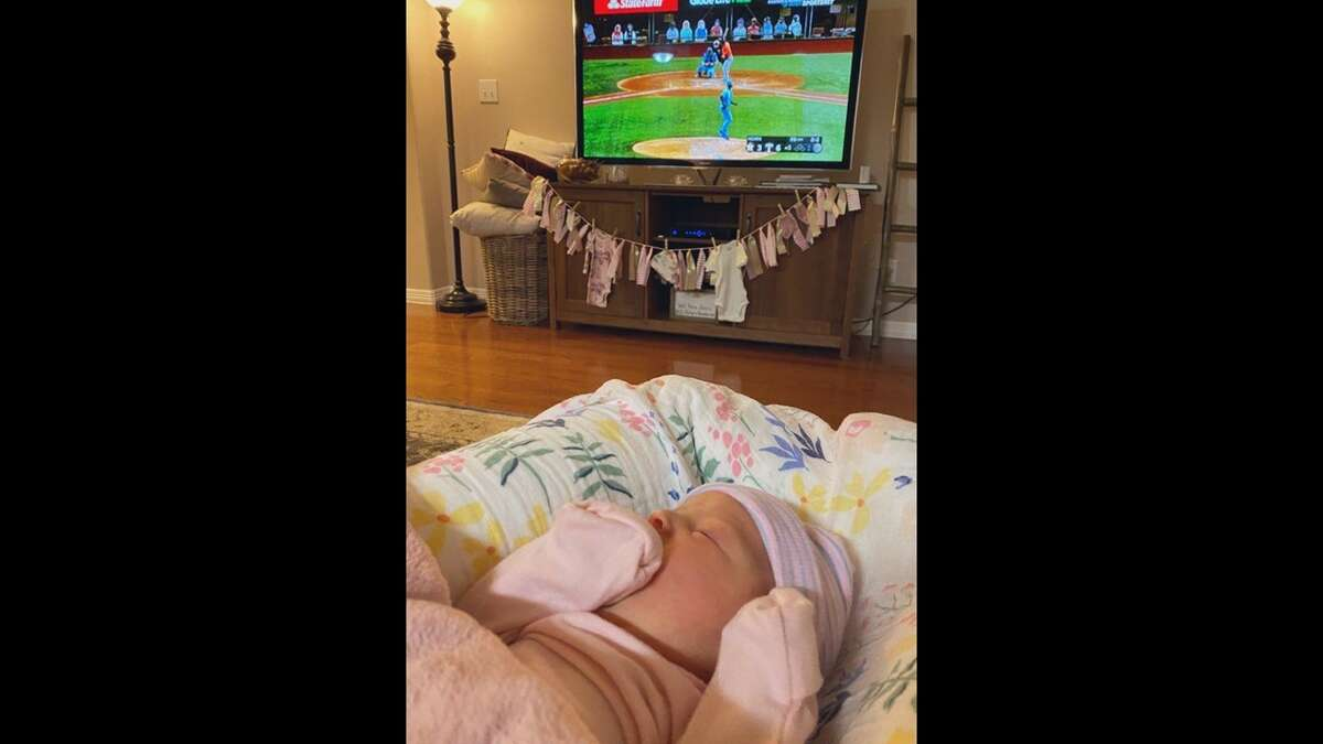 Houston Astros field reporter, Julia Morales, and her husband Matt Clark welcomed the newest addition to their family over the weekend. Ms. Valerie Rose Clark made her debut just in time for the Astros playoff season.