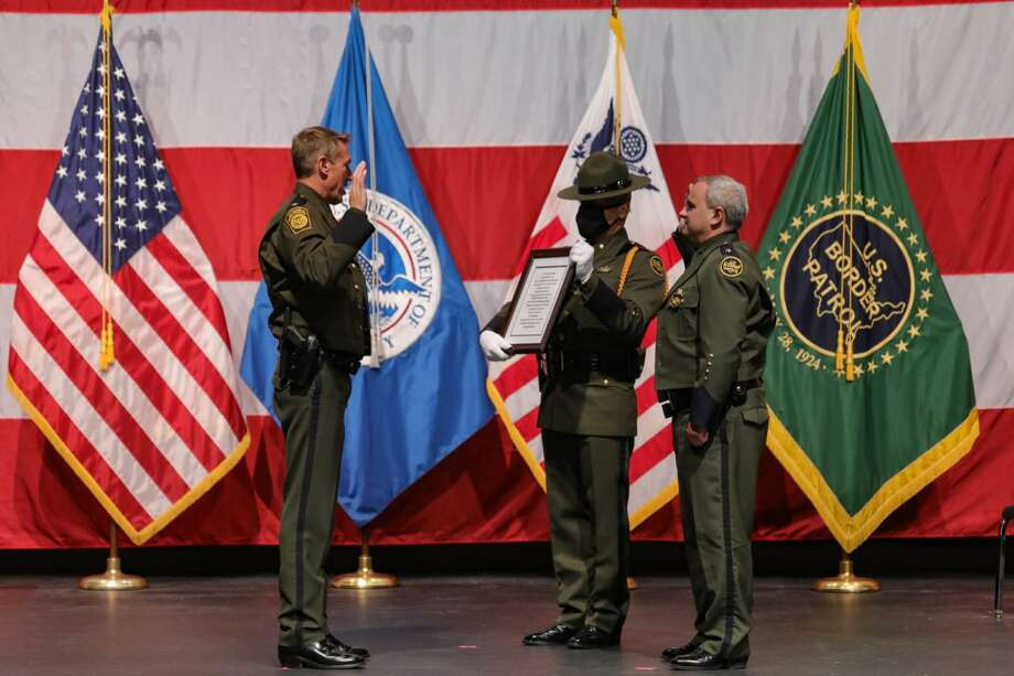 Chief Patrol Agent Matthew J. Hudak assumed command of the Laredo Sector Border Patrol during a virtual Change of Command ceremony held on Sept. 24 at the Laredo College. Photo: Courtesy Photo /U.S. Border Patrol