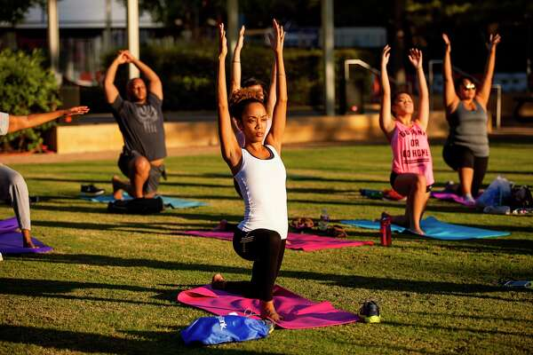 Core Focused Yoga at Discovery Green.