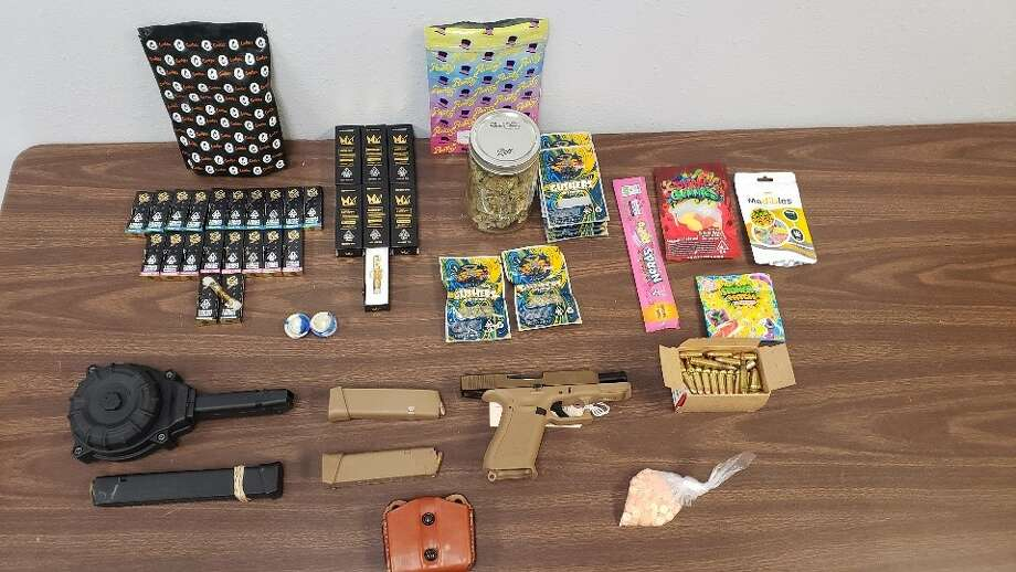 Vidor Police Department released this photo of evidence seized during a Sept. 26, 2020, arrest outside Mutt & Jeff's restaurant. Photo: Vidor Police Department