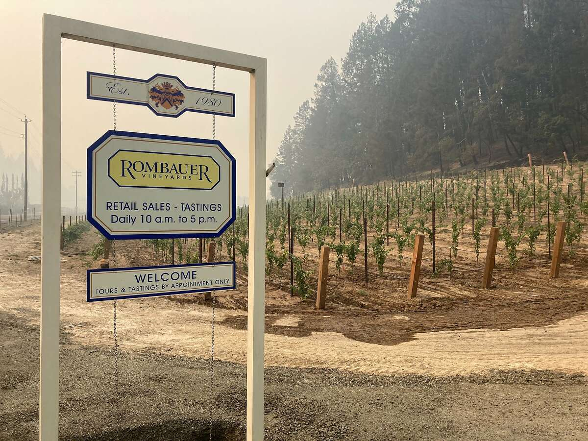 Rombauer Vineyards remained safe from the Glass Fire, as seen on September 29, 2020.