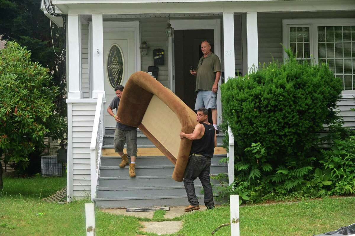 A file photo of a 2016 eviction in Norwalk.