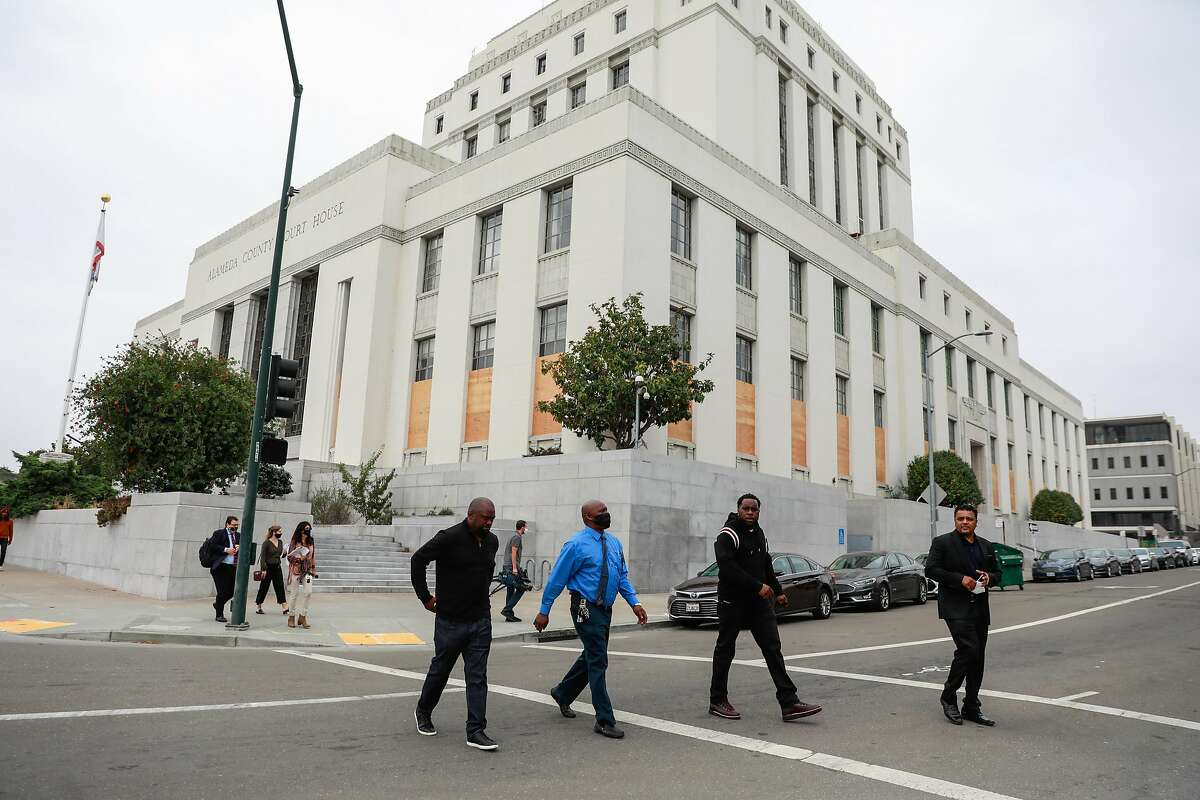 The Alameda County Courthouse in Oakland on Sept. 2. Gov. Gavin Newsom signed a bill Tuesday requiring that juries be drawn from a larger group of people who are more reflective of the state's population as a whole.
