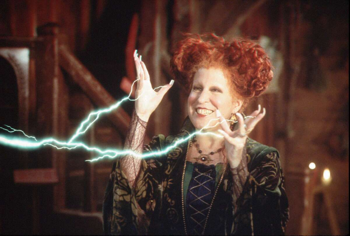 Bette Midler stars as one of three 17th Century witches who accidentally find themselves in modern day Salem, Mass. in Hocus Pocus.