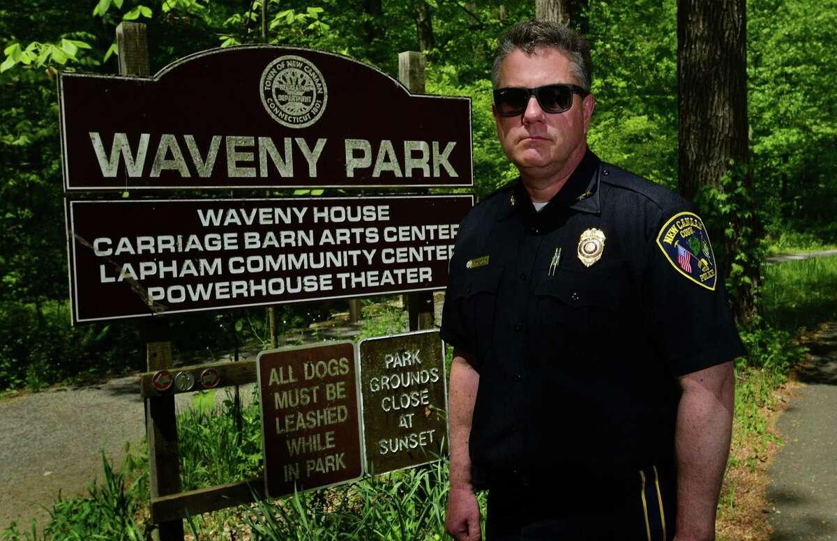 New Canaan Police Chief Leon Krolikowski in Waveny Park