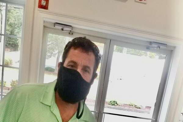 Adam Sandler stopped by Fred 06825 in Fairfield to pick up food on Sept. 28, 2020.