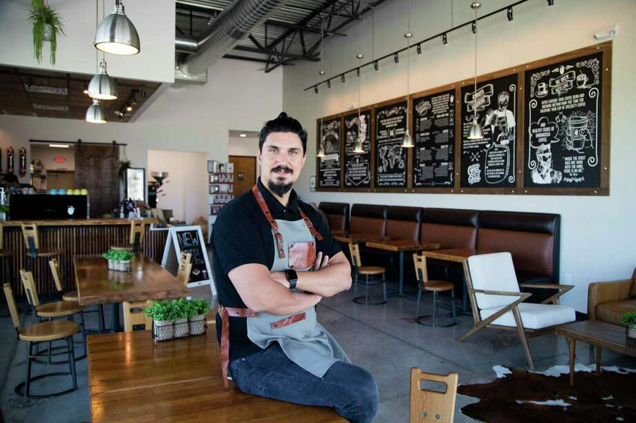 """Oguzhan """"Ozzy"""" Guragac has two locations of Barbarossa Coffee, one in Spring and one in Tomball (pictured). Photo: Marie D. De Jesús, Staff Photographer / © 2020 Houston Chronicle"""
