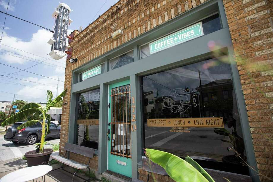 Cafeza's live music is silent for now. The owners have been selling coffee to-go, but it's not enough to pay the bills. Photo: Brett Coomer, Houston Chronicle / Staff Photographer / © 2020 Houston Chronicle